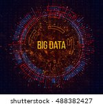 big data visualization.... | Shutterstock .eps vector #488382427