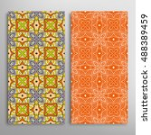 vertical seamless patterns set  ... | Shutterstock .eps vector #488389459
