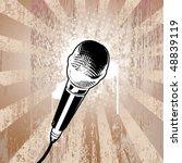 Microphone On Grunge Background