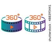 360 degree panoramic video... | Shutterstock .eps vector #488395441