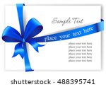 greeting card with a blue... | Shutterstock .eps vector #488395741