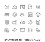 simple set of hosting related... | Shutterstock .eps vector #488397139