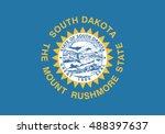 state of south dakota flag  | Shutterstock .eps vector #488397637