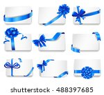 set of beautiful cards with... | Shutterstock .eps vector #488397685