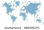 blue square world map on white...   Shutterstock .eps vector #488408191