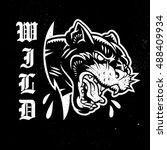 wildcat vector emblem. | Shutterstock .eps vector #488409934