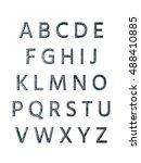 metal alphabet. 3d rendering | Shutterstock . vector #488410885