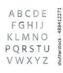 metal alphabet. 3d rendering | Shutterstock . vector #488412271