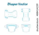 Baby Absorbent Diaper Vector...