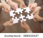 teamwork business people... | Shutterstock . vector #488420437