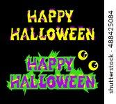 halloween sign holiday... | Shutterstock .eps vector #488425084