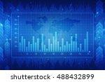 2d illustration business graph...   Shutterstock . vector #488432899