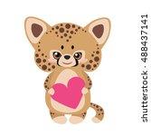 Cute Jaguar With A Heart