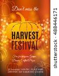harvest festival poster. vector ... | Shutterstock .eps vector #488446171