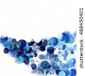 bubbles circle dots unique blue ... | Shutterstock .eps vector #488450401