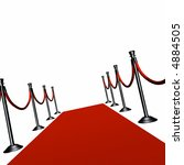 red carpet with black... | Shutterstock . vector #4884505
