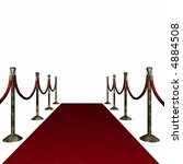 distressed red carpet. ropes ... | Shutterstock . vector #4884508