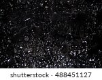 black background  drops of water | Shutterstock . vector #488451127