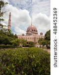 pink mosque in putra jaya city  ...   Shutterstock . vector #488452369