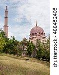 pink mosque in putra jaya city  ...   Shutterstock . vector #488452405