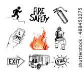 fire safety and means of... | Shutterstock .eps vector #488453275