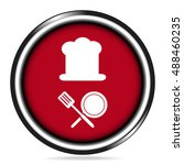 chef hat icon  cooking sign icon   Shutterstock .eps vector #488460235