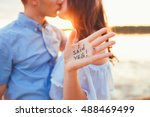 betrothal. proposal in the...   Shutterstock . vector #488469499