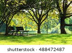 Park Benches In The City In...