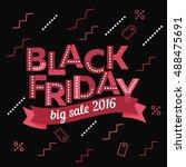 black friday sale inscription... | Shutterstock .eps vector #488475691