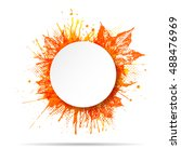 white round paper banner on... | Shutterstock .eps vector #488476969
