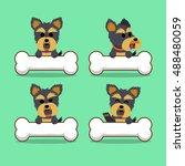 cartoon character yorkshire...   Shutterstock .eps vector #488480059