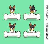 set of cartoon character... | Shutterstock .eps vector #488480161