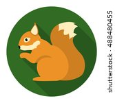 squirrel vector icon in flat... | Shutterstock .eps vector #488480455