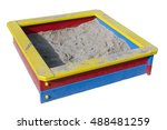 children wooden sand box on... | Shutterstock . vector #488481259