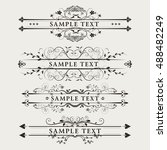 vintage graphic  element ... | Shutterstock .eps vector #488482249
