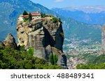 Monestary On A Rock In Meteora  ...