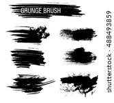 vector set of grunge brush... | Shutterstock .eps vector #488493859