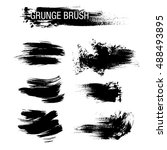 vector set of grunge brush... | Shutterstock .eps vector #488493895