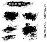 vector set of grunge brush... | Shutterstock .eps vector #488493934