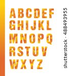 bright geometric alphabet ... | Shutterstock .eps vector #488493955