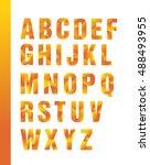 bright geometric alphabet ... | Shutterstock .eps vector #488493955