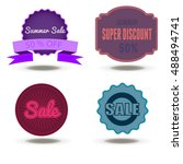 vector set sale discount... | Shutterstock .eps vector #488494741