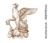 griffin  griffon  or gryphon  ... | Shutterstock .eps vector #488498161