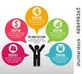 success business man... | Shutterstock .eps vector #488498365