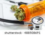 medical marijuana close up... | Shutterstock . vector #488508691