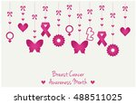 breast cancer awareness month... | Shutterstock .eps vector #488511025