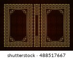 vector classical book cover....   Shutterstock .eps vector #488517667