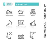 flat symbols about construction.... | Shutterstock .eps vector #488518219