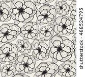 vector seamless pattern.... | Shutterstock .eps vector #488524795