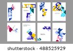 futuristic design with abstract ... | Shutterstock .eps vector #488525929